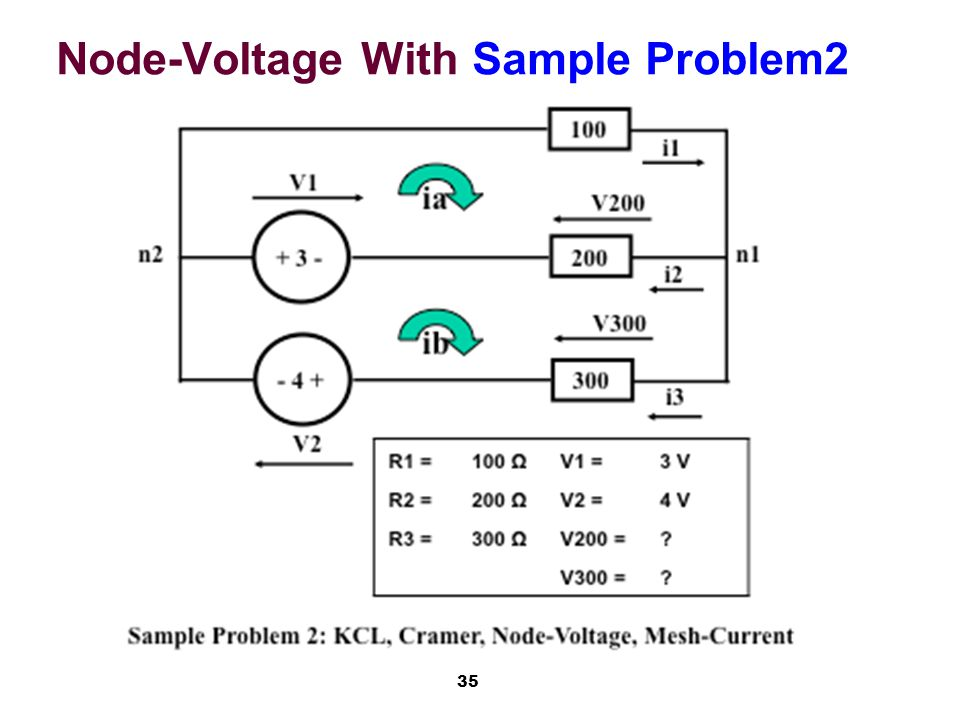 35 Node-Voltage With Sample Problem2