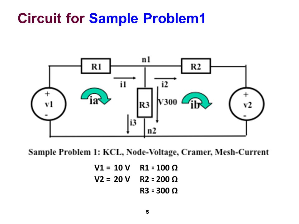 5 Circuit for Sample Problem1