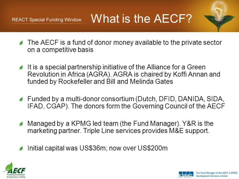 What is the AECF.
