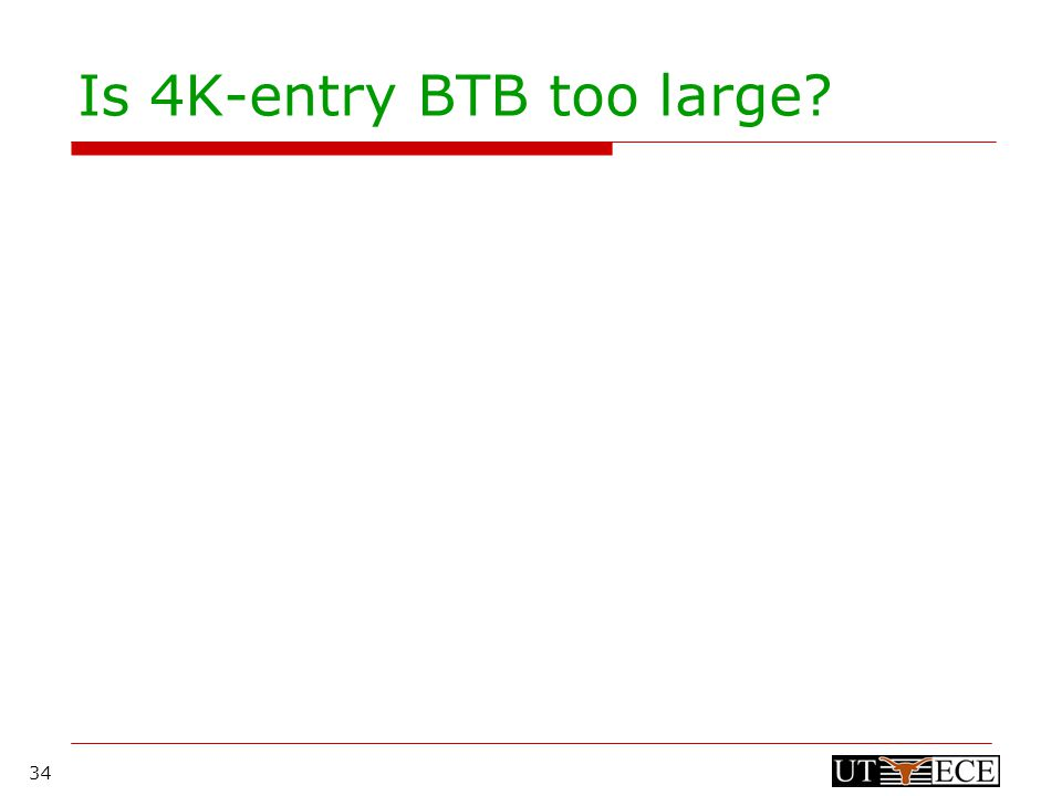 34 Is 4K-entry BTB too large.