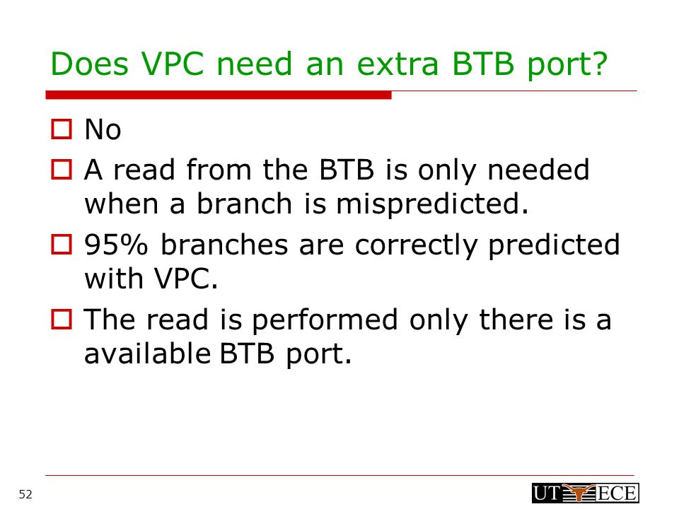 52 Does VPC need an extra BTB port.