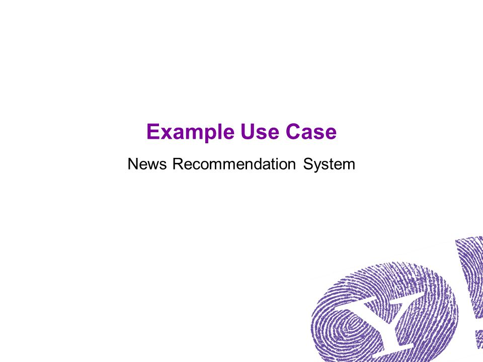 Example Use Case News Recommendation System