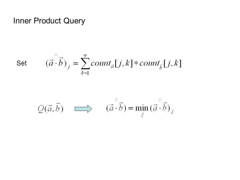 Inner Product Query Set