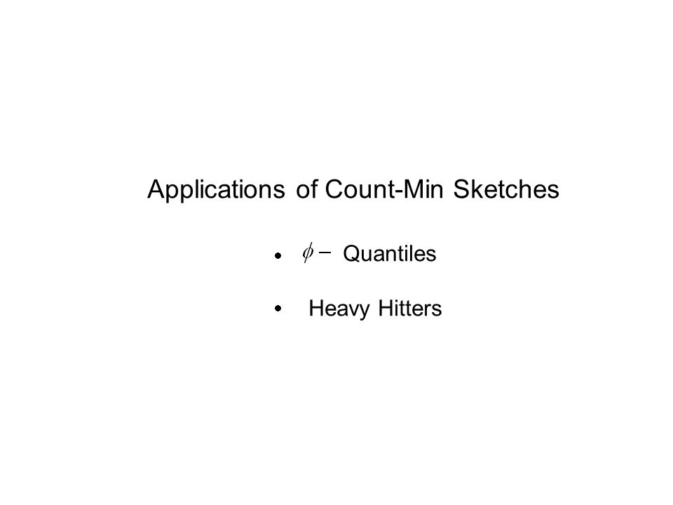 Applications of Count-Min Sketches Quantiles Heavy Hitters  