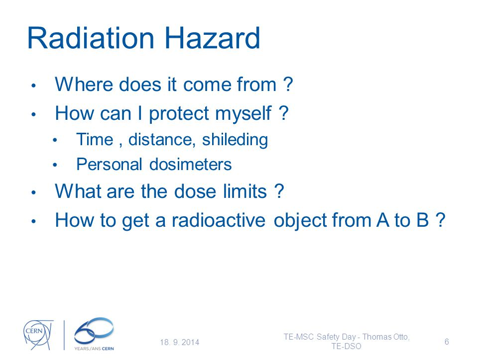 Radiation Hazard Where does it come from . How can I protect myself .