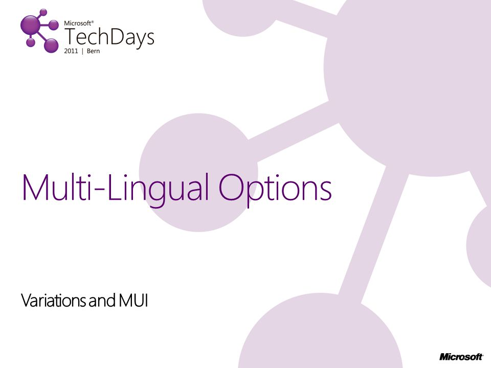 Variations and MUI Multi-Lingual Options