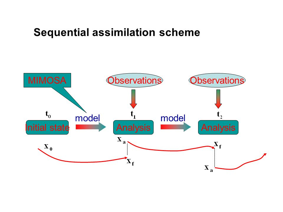 Initial stateAnalysis model Observations model MIMOSA Sequential assimilation scheme