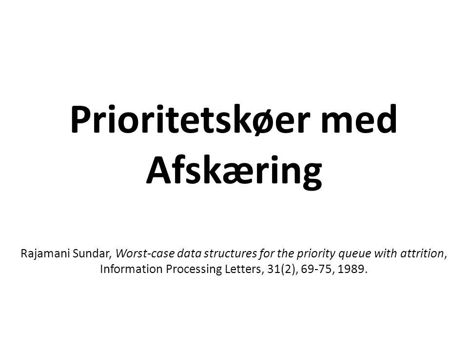Prioritetskøer med Afskæring Rajamani Sundar, Worst-case data
