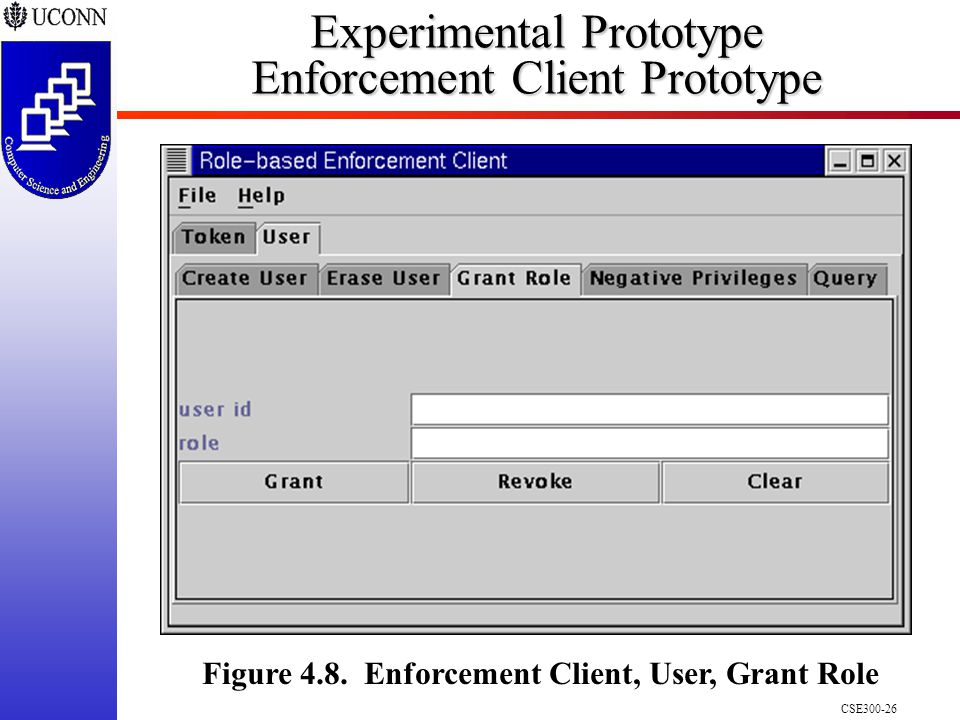 CSE300-26 Experimental Prototype Enforcement Client Prototype Figure 4.8.