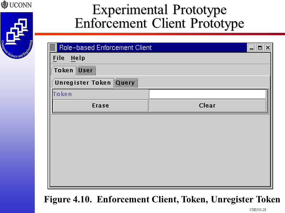 CSE300-28 Experimental Prototype Enforcement Client Prototype Figure 4.10.