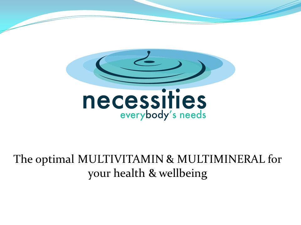 The optimal MULTIVITAMIN & MULTIMINERAL for your health & wellbeing