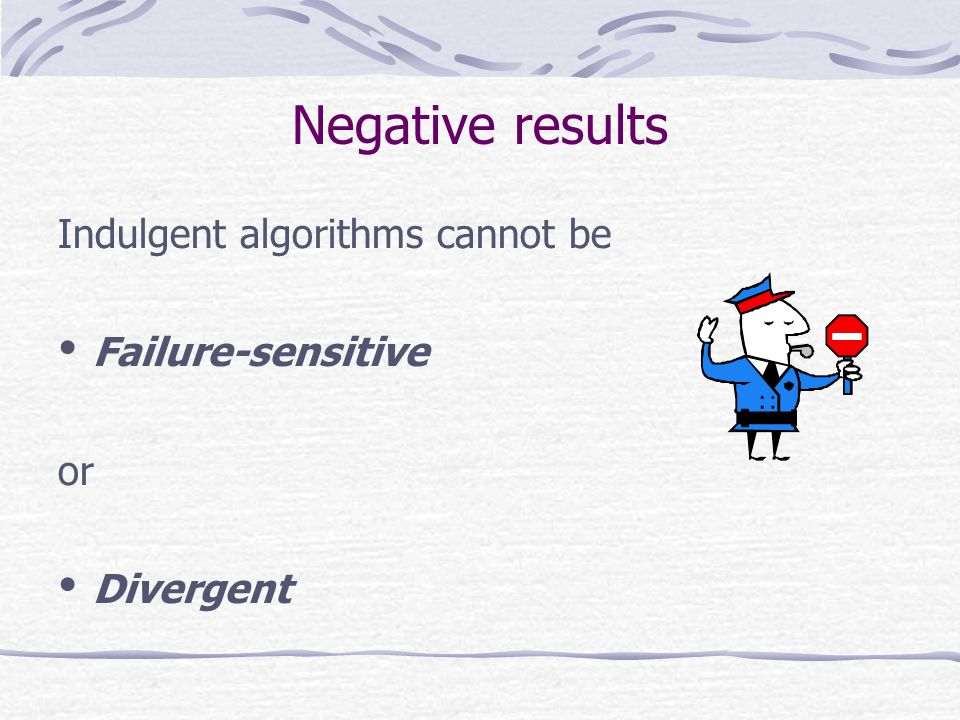 Indulgent algorithms cannot be Failure-sensitive or Divergent Negative results