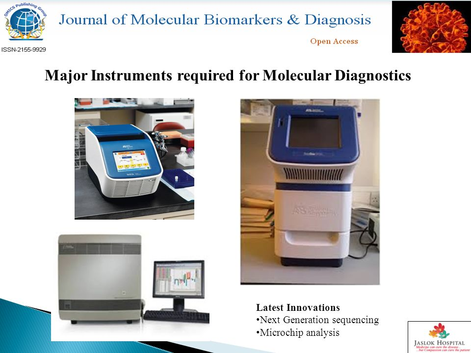 Major Instruments required for Molecular Diagnostics Latest Innovations Next Generation sequencing Microchip analysis