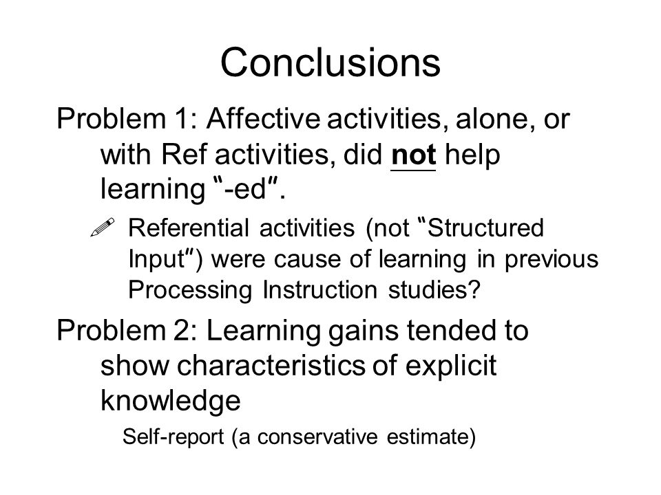 Evidence from self-report Rule-users consistently out-performed the non-rule users.