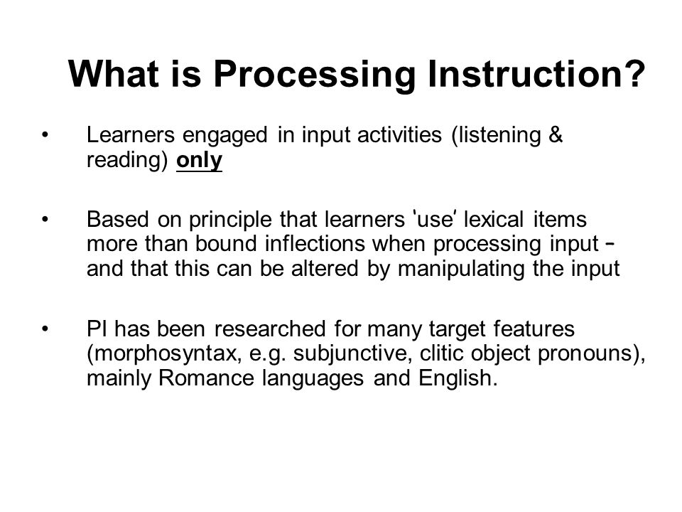 Can we train learners to process the input better.