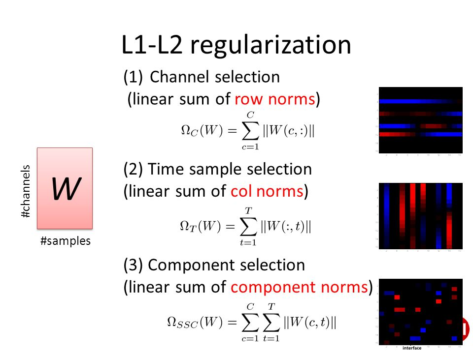 Combined classification and channel/basis selection with L1-L2 ...