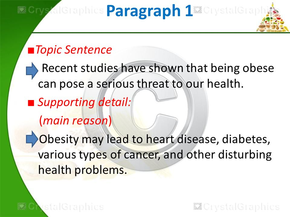 paragraph about obesity