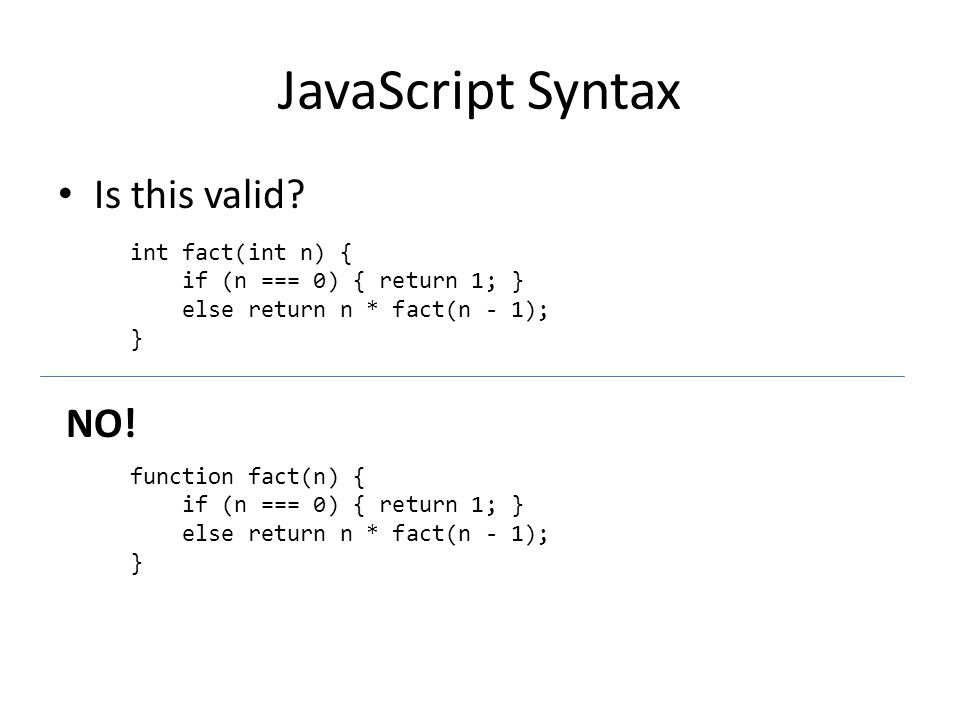 JavaScript Syntax Is this valid.