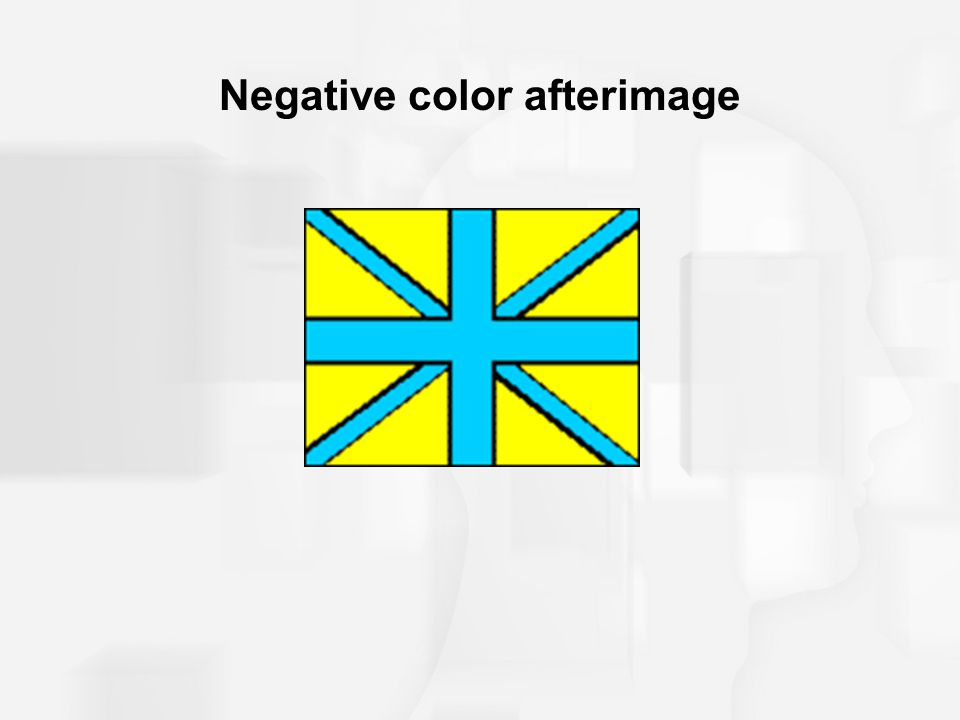 Negative color afterimage