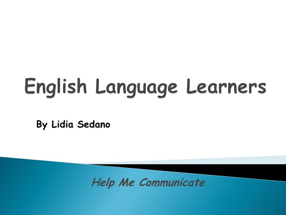 Help Me Communicate By Lidia Sedano