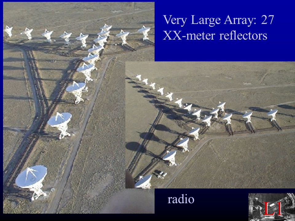 L1 Very Large Array: 27 XX-meter reflectors