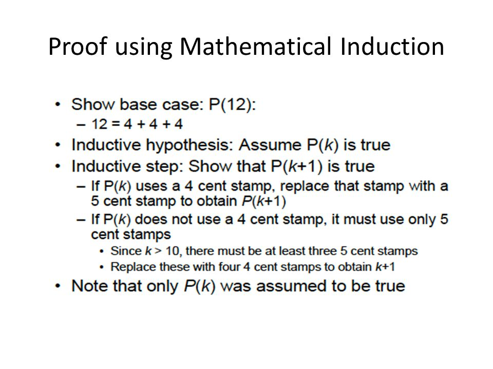 Proof using Mathematical Induction
