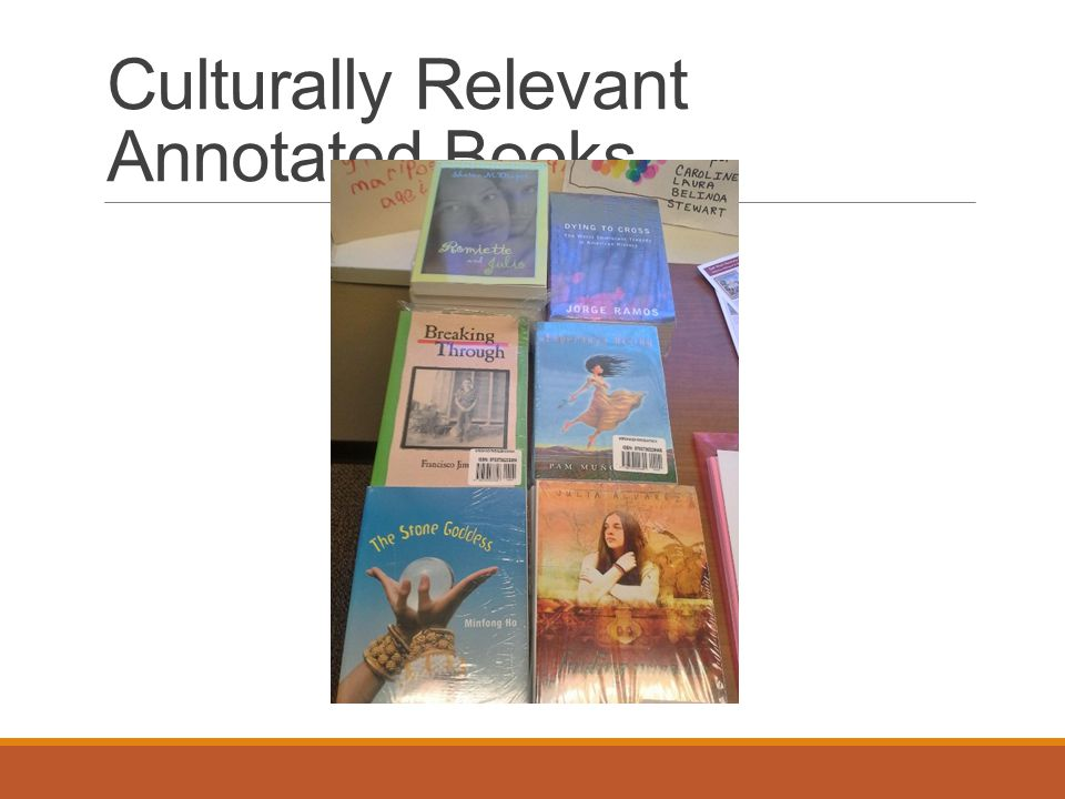 Culturally Relevant Annotated Books
