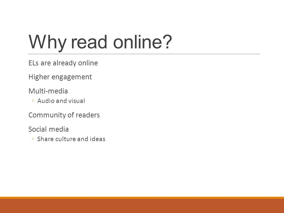 Why read online.
