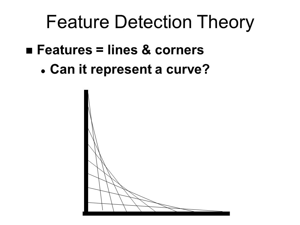 Feature Detection Theory n Features = lines & corners l Can it represent a curve