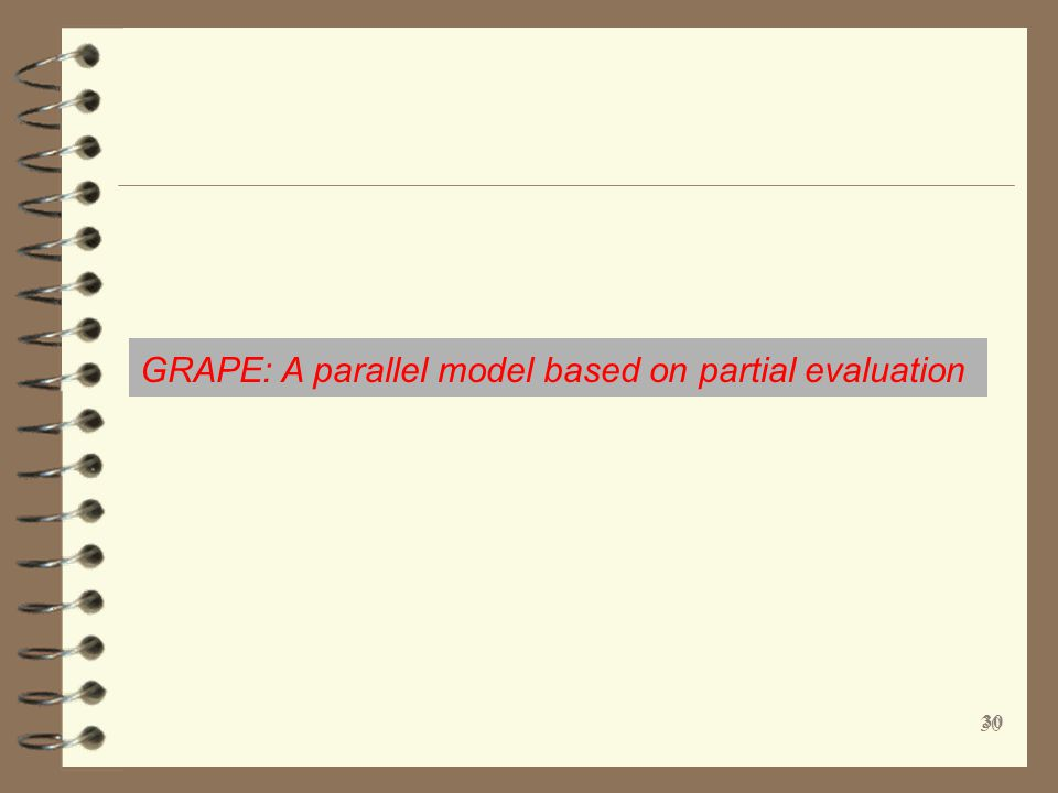 GRAPE: A parallel model based on partial evaluation 30