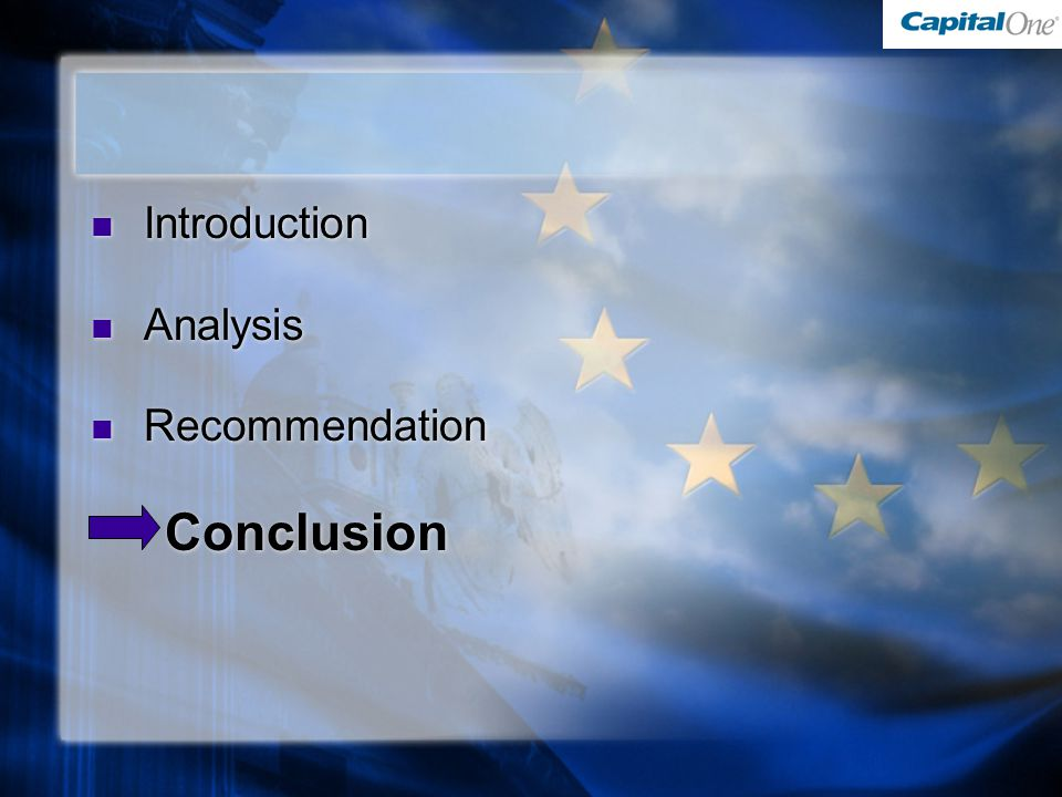 Introduction Analysis Recommendation Conclusion Introduction Analysis Recommendation Conclusion