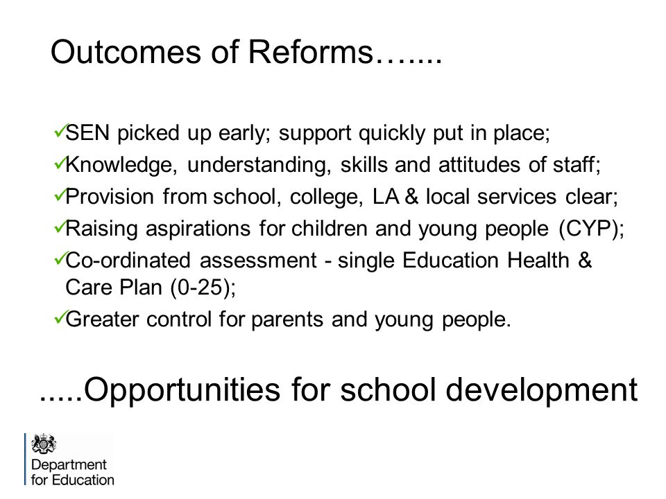 Outcomes of Reforms…....
