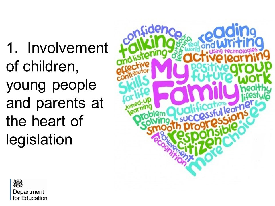 1. Involvement of children, young people and parents at the heart of legislation