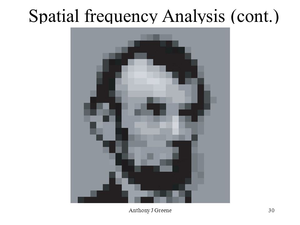 Anthony J Greene30 Spatial frequency Analysis (cont.)