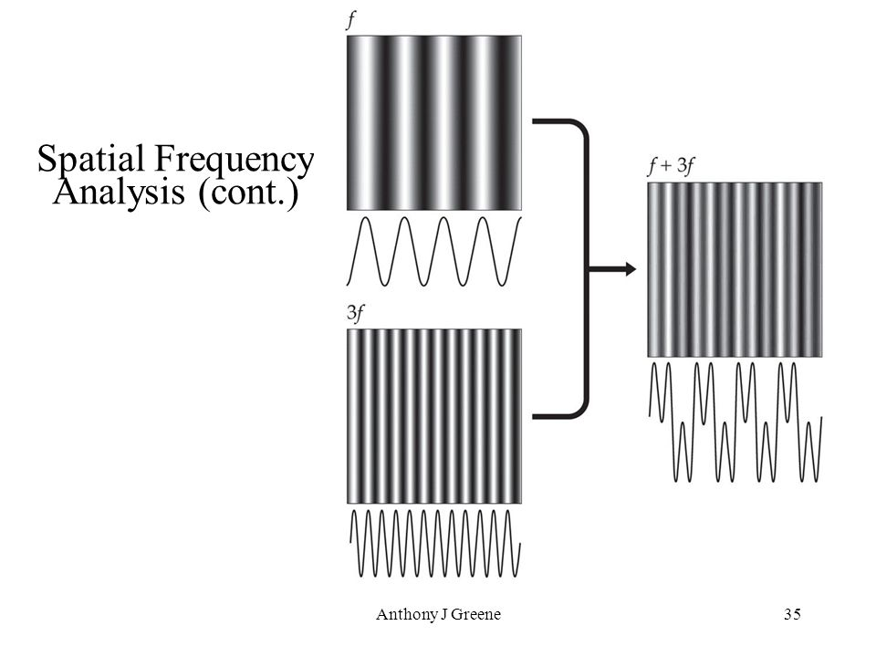 Anthony J Greene35 Spatial Frequency Analysis (cont.)