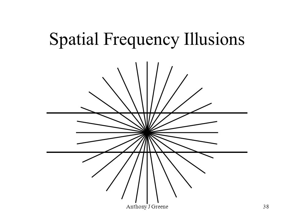 Anthony J Greene38 Spatial Frequency Illusions