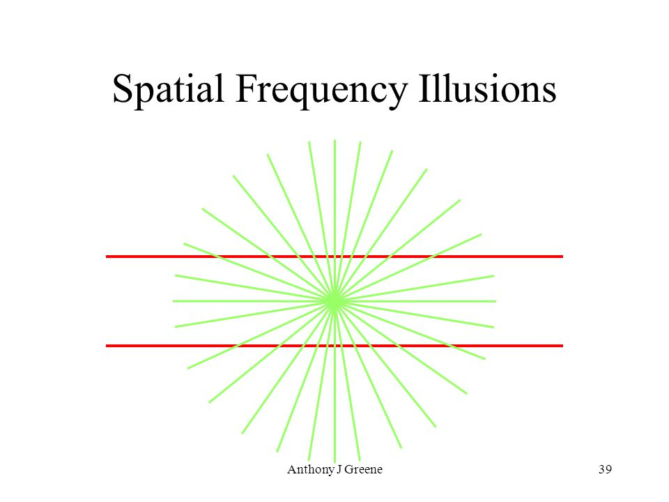 Anthony J Greene39 Spatial Frequency Illusions