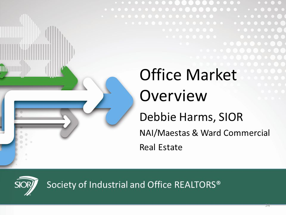 Society of Industrial and Office REALTORS® 34 Office Market Overview Debbie Harms, SIOR NAI/Maestas & Ward Commercial Real Estate