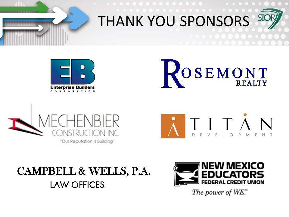 Society of Industrial and Office REALTORS® THANK YOU SPONSORS