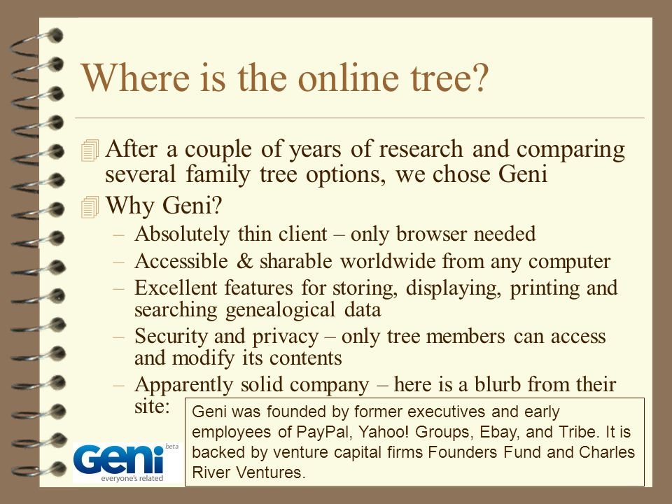 Where is the online tree.