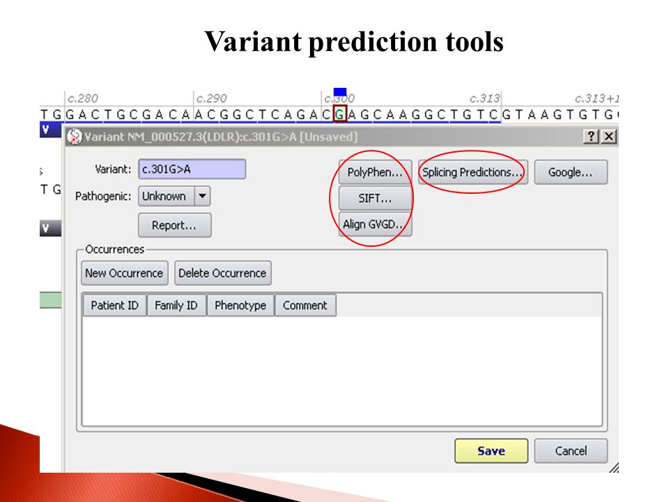 Variant prediction tools