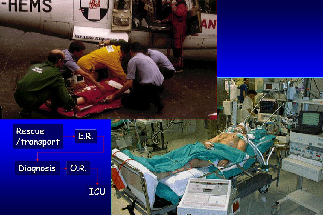 E.R. O.R. ICU Rescue/transport Diagnosis