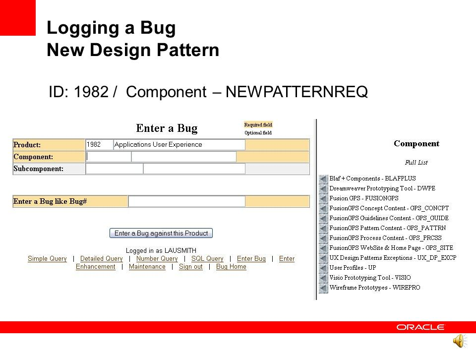 Agenda Proposal History Creation Process Logging a bug