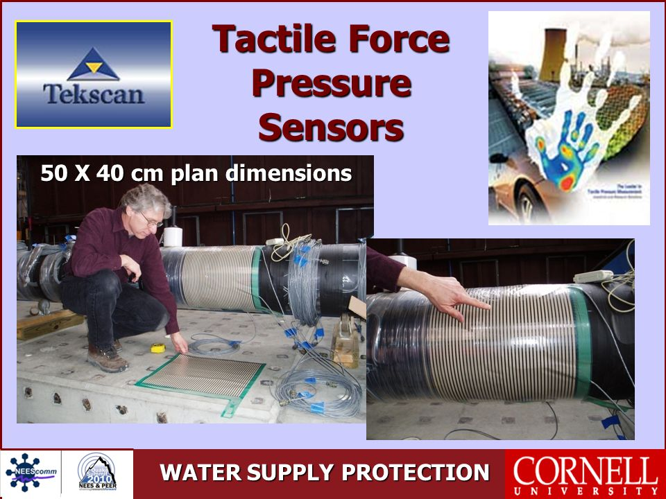 WATER SUPPLY PROTECTION Tactile Force Pressure Sensors 50 X 40 cm plan dimensions