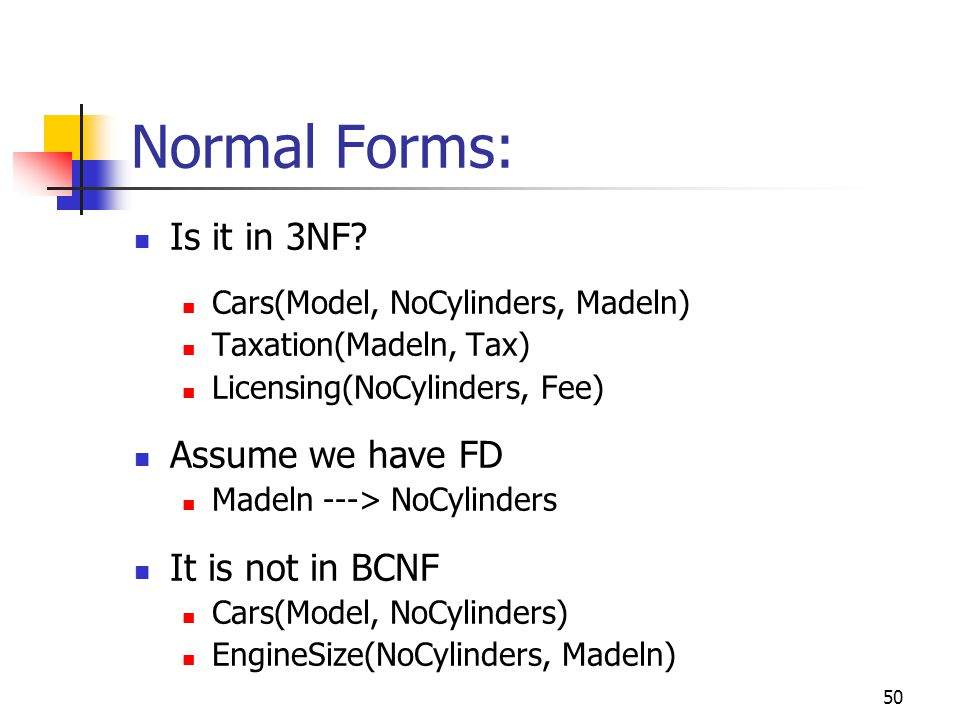 50 Normal Forms: Is it in 3NF.