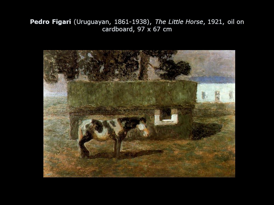 Pedro Figari (Uruguayan, 1861-1938), The Little Horse, 1921, oil on cardboard, 97 x 67 cm