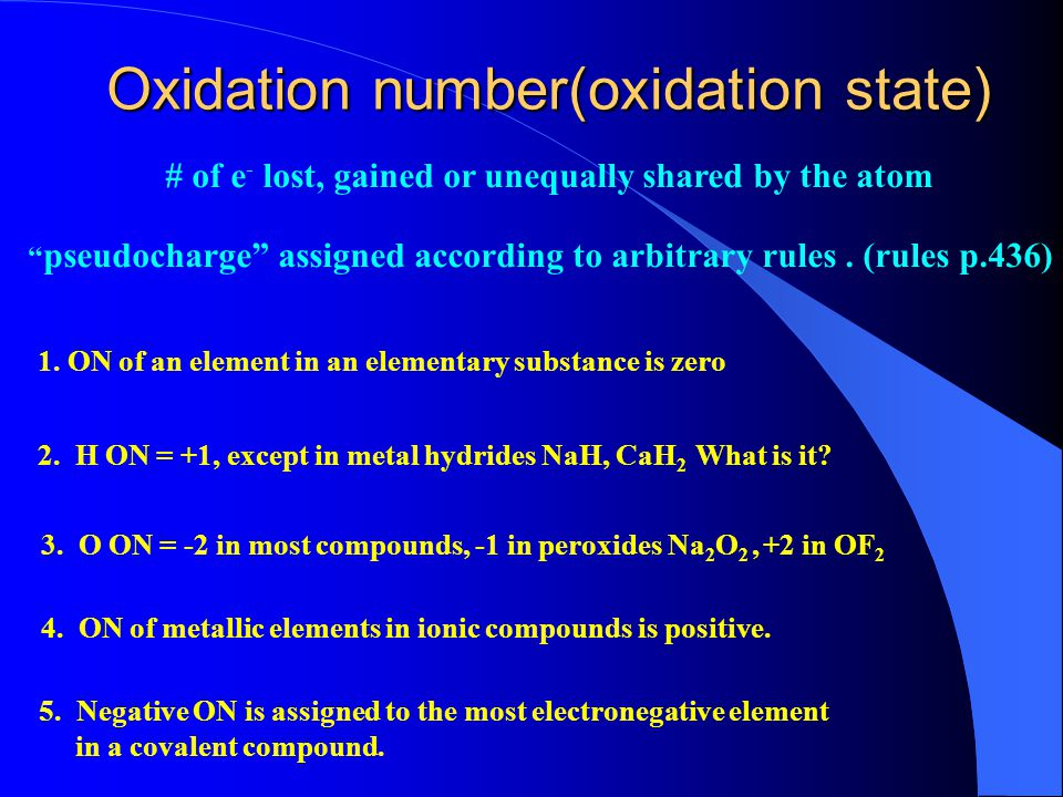 Redox Reactions (electron-transfer reactions) Oxidation Number Oxidation & ReductionBalancing Redox Reactions