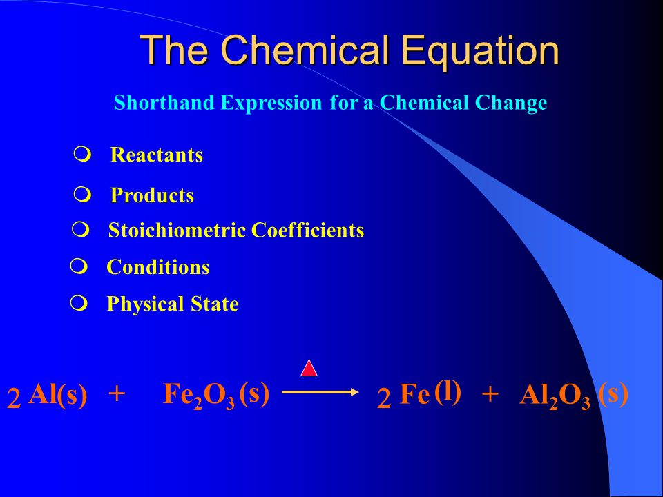 The Chemical Equation Writing and Balancing Equations Information in an Equation Types of Chemical Equations Heat in Chemical Equations The Greenhouse Effect Chapter Outline