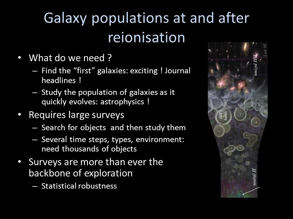 Galaxy populations at and after reionisation What do we need .
