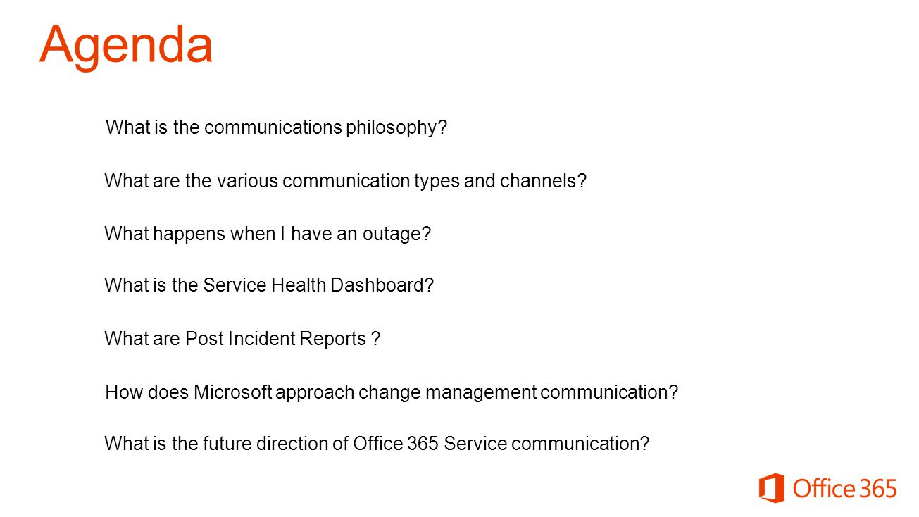 How does Microsoft approach change management communication